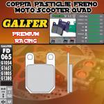 FD065G1651 PASTIGLIE FRENO GALFER PREMIUM POSTERIORI MORBIDELLI 125 JR 80-