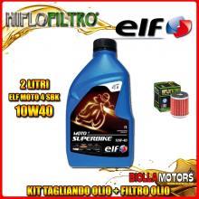 KIT TAGLIANDO 2LT OLIO ELF MOTO 4 SBK 10W40 HUSQVARNA SMR125 4T 125CC 2012- + FILTRO OLIO HF140