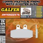 FD074G1370 PASTIGLIE FRENO GALFER SINTERIZZATE ANTERIORI DERBI RAMBLA 300 ie 10-