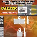FD365G1375 PASTIGLIE FRENO GALFER SINTERIZZATE ANTERIORI YAMAHA YZF 1.000 R-1 TCS 12-