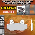 FD073G1054 PASTIGLIE FRENO GALFER ORGANICHE ANTERIORI GOES GS 125 BIG WHEEL 08-