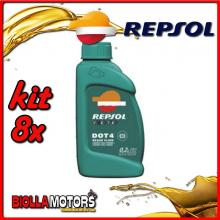 KIT 8X LITRO REPSOL DOT4 BRAKE FLUID 1 LITRO - 8x RI801A91IT