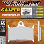 FD099G1375 PASTIGLIE FRENO GALFER SINTERIZZATE ANTERIORI TRIUMPH THUNDERBIRD STORM 1700 11-
