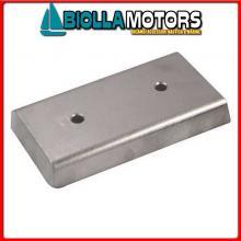 5111110 ANODO PIASTRA HULL ALU 100X50 Piastre in Alluminio per Carene