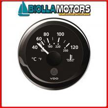 2300222 INDICATORE PRESSIONE OLIO VDO 30B BLACK Strumentazione VDO View-Line