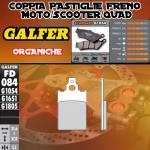 FD084G1054 PASTIGLIE FRENO GALFER ORGANICHE ANTERIORI MALAGUTI F 15 FIRE FOX LC 98-