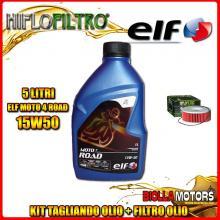 KIT TAGLIANDO 5LT OLIO ELF MOTO 4 ROAD 15W50 YAMAHA VMX1200 (V-Max) 1200CC 1985-1995 + FILTRO OLIO HF146