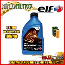 KIT TAGLIANDO 3LT OLIO ELF MOTO 4 SBK 10W40 KTM 400 EXC 400CC 2008-2011 + FILTRO OLIO HF652