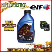 KIT TAGLIANDO 3LT OLIO ELF MOTO 4 ROAD 15W50 KTM 400 EGS 2nd Oil 400CC - + FILTRO OLIO HF156