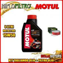 KIT TAGLIANDO 5LT OLIO MOTUL 7100 15W50 YAMAHA VMX1200 (V-Max) 1200CC 1985-1995 + FILTRO OLIO HF146
