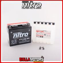 YT12B-BS-N BATTERIA NITRO YT12B-BS SIGILLATA CON ACIDO YT12BBS MOTO SCOOTER QUAD CROSS