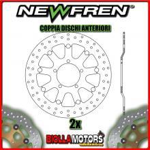 2-DF5248AFV COPPIA DISCHI FRENO ANTERIORE NEWFREN TRIUMPH DAYTONA 675cc up to VIN 381274 2006-2008 FLOTTANTE VINTAGE