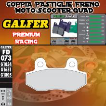 FD073G1651 PASTIGLIE FRENO GALFER PREMIUM ANTERIORI GOES GS 125 BIG WHEEL 08-