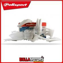 P90421 KIT PLASTICHE CARENE HONDA CRF 250 R 2011-2013 BIANCO POLISPORT