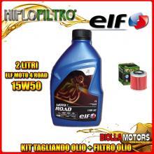 KIT TAGLIANDO 2LT OLIO ELF MOTO 4 ROAD 15W50 HUSQVARNA SM250 R 250CC 2007- + FILTRO OLIO HF154