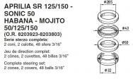 6025 SERIE STERZO APRILIA SR 125/150 - SONIC 50 HABANA - MOJITO 50/125/150