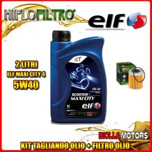 KIT TAGLIANDO 2LT OLIO ELF MAXI CITY 5W40 KTM 250 EXC Racing 2nd Oil 250CC 2004-2006 + FILTRO OLIO HF157