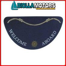 3311503 TAPPETINO WELCOME HALF MOON BLUE Tappetini Welcome Aboard Half Moon