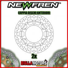 2-DF5172AF COPPIA DISCHI FRENO ANTERIORE NEWFREN YAMAHA XJ N 600cc 1998-2003 FLOTTANTE