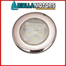 2143009 LUCE POZZETTO LED ROUND D71 INOX< Luce Impermeabile LED Round Top Inox