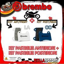BRPADS-33177 KIT PASTIGLIE FRENO BREMBO GAS GAS EC 2000-2016 200CC [LA+CC] ANT + POST