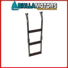 0506003 SCALETTA 22/25 3GR INOX/LEGNO Scalette Inox e Legno con Attacco a Morsetto