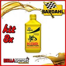 KIT 8X LITRO OLIO BARDAHL KGR INJECTION E CARBURATORE LUBRIFICANTE PER MOTO 2T 1LT - 8x226041