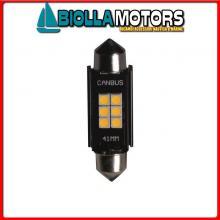 2161610 LAMPADINA SILURO LED 1.5W 12/24V L42< Lampadina Siluro Hi-Power LED