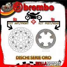BRDISC-4053 KIT DISCHI FRENO BREMBO KTM DUKE 2014-2015 690CC [ANTERIORE+POSTERIORE] [FLOTTANTE/FISSO]