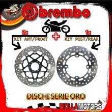 BRDISC-3628 KIT DISCHI FRENO BREMBO HONDA CRF L AFRICA TWIN 2016- 1000CC [ANTERIORE+POSTERIORE] [FLOTTANTE/FISSO]