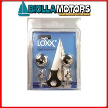 3214282 CONFEZIONE BOTTONI LOXX/TENAX + VITE 2PZ 2 Bottoni Loxx - Tenax in Blister
