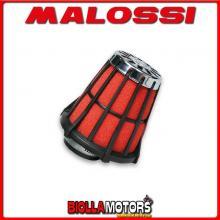 047729.50 FILTRO ARIA MALOSSI E5 CON D. 43 EXPLORER CRACKER 50 2T 2003-> (GE 1E 400 MB) PER CARBURATORI PHBL 25 CON GABBIA NERA
