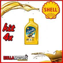 KIT 4X LITRO OLIO SHELL ADVANCE 4T AX5 15W50 1LT - 4x 550027092