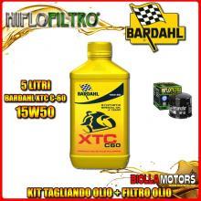 KIT TAGLIANDO 5LT OLIO BARDAHL XTC 15W50 DUCATI 1200 Monster R 1200CC 2016- + FILTRO OLIO HF153