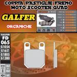 FD065G1054 PASTIGLIE FRENO GALFER ORGANICHE POSTERIORI MECATECNO 50 DRAGONFLY 87-