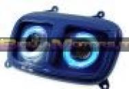 STR-612.32/BL Maschera anteriore STR8 blu anodizzato con cornice a led blu per Yamaha Bws 2004 - Mbk Booster 2004