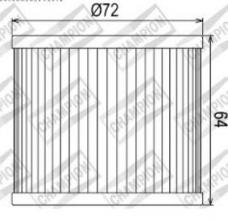 100609275 COF033 FILTRO OLIO SUZUKI GS500 E-K,L,M,N,P,R,S,T,V,W,X,Y,K1,K2 (2 Cylinders) 88-02 (X307 - X323)