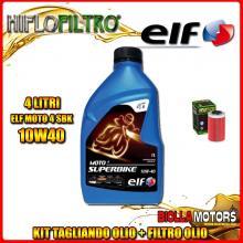 KIT TAGLIANDO 4LT OLIO ELF MOTO 4 SBK 10W40 KTM 640 Duke 1st Oil Filter 640CC 1999-2006 + FILTRO OLIO HF155