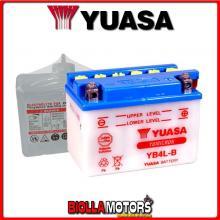 E01111 BATTERIA YUASA YB4L-B [SENZA ACIDO] YB4LB MOTO SCOOTER QUAD CROSS [SENZA ACIDO]