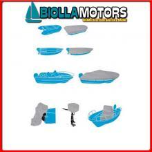 3270008 TELO C.BARCA SHIELD XXL L630-710x W380CM Teli Copri Barca Silver Shield