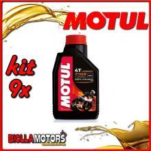 KIT 9X LITRO OLIO MOTUL 7100 4T 10W50 100% SINTETICO PER MOTORI 4T - 9x 104097
