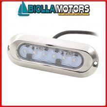 2121620 FARETTO SUB LED OVAL 6X5W WHITE< Faro Subacqueo WK LED-30W Slim