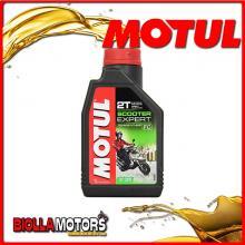 105880 1 litro OLIO MOTUL SCOOTER EXPERT 2T MOTOR OIL TECHNOSYNTHESE