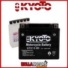 712120 BATTERIA KYOTO YTX12-BS SIGILLATA CON ACIDO YTX12BS MOTO SCOOTER QUAD CROSS