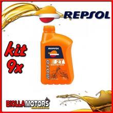 KIT 9X LITRO OLIO REPSOL SINTETICO MOTO 2T 1LT - 9x RP150W51IT