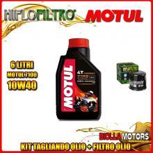 KIT TAGLIANDO 6LT OLIO MOTUL 7100 10W40 KAWASAKI VN2000 A1-A2,A6F Vulcan 2000CC 2004-2006 + FILTRO OLIO HF204