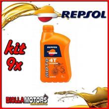 KIT 9X LITRO OLIO REPSOL MOTO RIDER 4T 20W50 1LT - 9x RP165Q51IT