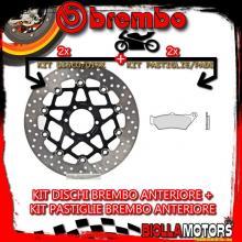 KIT-73PL DISCO E PASTIGLIE BREMBO ANTERIORE MOTO MORINI GRANPASSO 1200CC 2008- [GENUINE+FLOTTANTE] 78B408A2+07BB0390