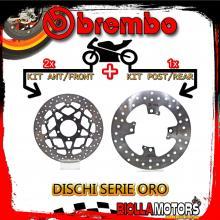 BRDISC-4630 KIT DISCHI FRENO BREMBO TRIUMPH SPEED TRIPLE R ABS 2012-2013 1050CC [ANTERIORE+POSTERIORE] [FLOTTANTE/FISSO]