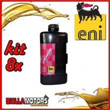 KIT 8X LITRO OLIO ENI FORK OIL 15W FORCELLA - 8x E142891
